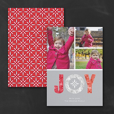 JOY - Photo Holiday Card