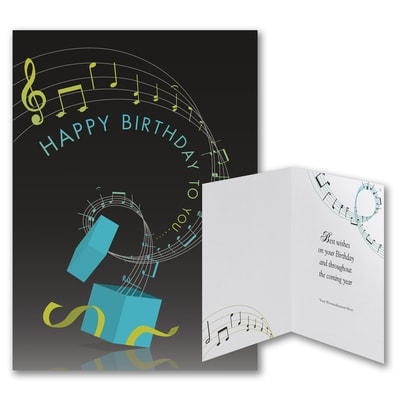 On a Musical Note - Birthday Card