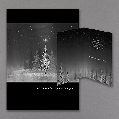 Treeline - Holiday Card - Black