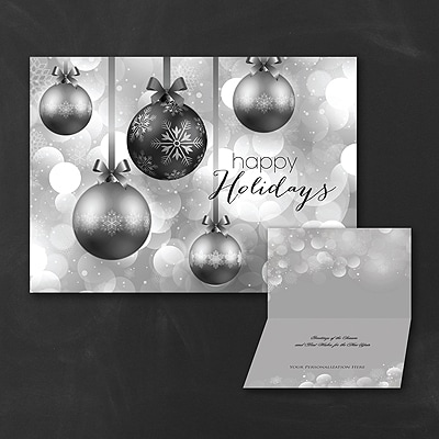 Hanging Ornaments - Holiday Card - Black