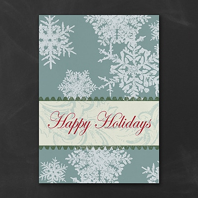 Patterned Snowflakes - Holiday Card