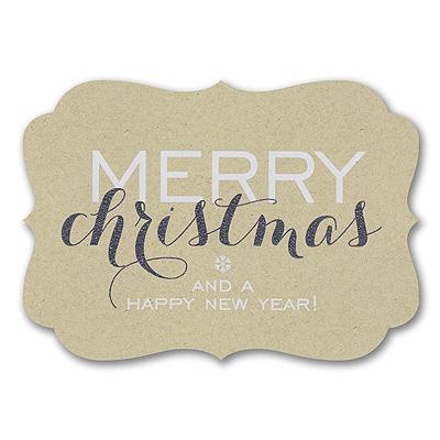 Merry Christmas Glitter - Christmas Card