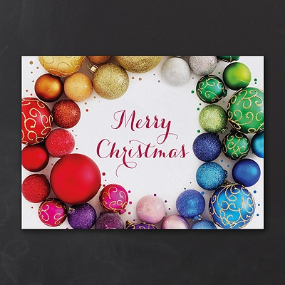 Colorful Christmas Wreath - Christmas Card