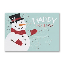 Happy Holiday Snowman - Holiday Card