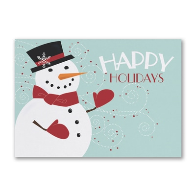 Happy Holiday Snowman - Holiday Card