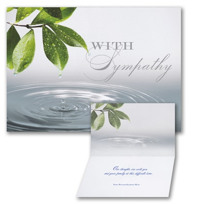 Serene Water Drop - Sympathy Card