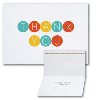 Color Dots - Thank You Card