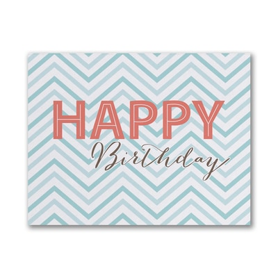 Chevron Wish - Birthday Card - Blue
