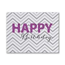 Chevron Wish - Birthday Card - Grey