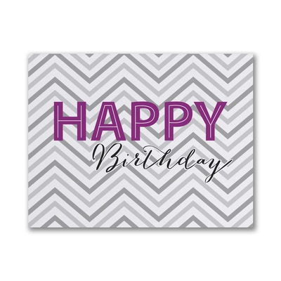 Chevron Wish - Birthday Card - Grey
