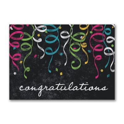 Chalkboard Confetti Congratulations