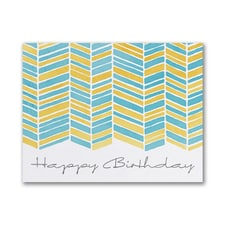 Watercolor Pattern - Birthday Card - Yellow