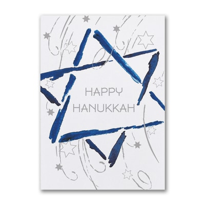Hanukkah Star - Holiday Card