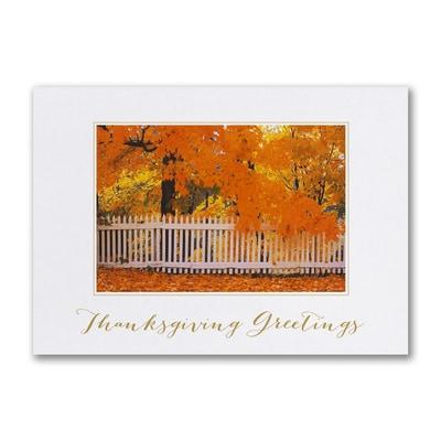 Vibrant Autumn Day - Thanksgiving Card