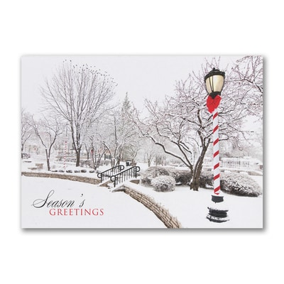Peaceful Park Scene - Holiday Card