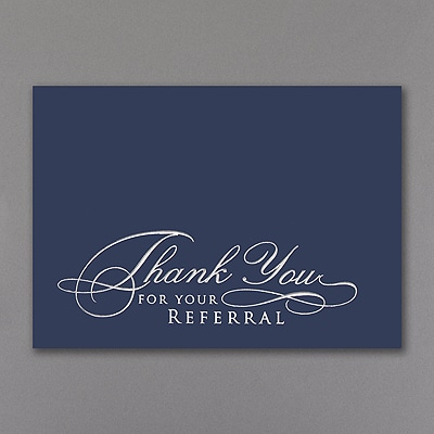 Thank You For Your Referral Card Thank You Cards Carlson Craft