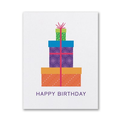 Patterned Packages - Birthday Card