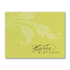 Happy Birthday Flourish - Birthday Card
