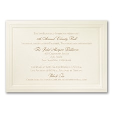 Ecru Embossed Triple Borders - Horizontal