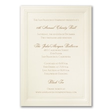 Ecru Embossed Triple Borders - Vertical