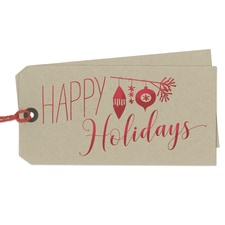 Kraft Holiday Tags