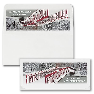 Red Bridge Currency Envelope