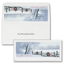 Winter Fence Currency Envelope