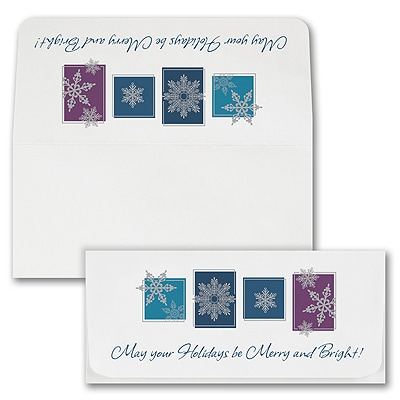 Snowflake Windows Currency Envelope