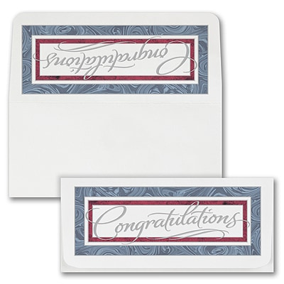 Marble Congrats Currency Envelope