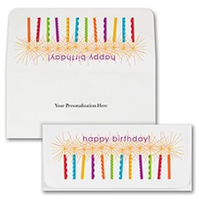 Birthday Candles Currency Envelope