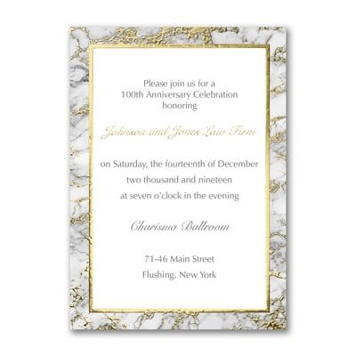 Marble Invitation - Vertical