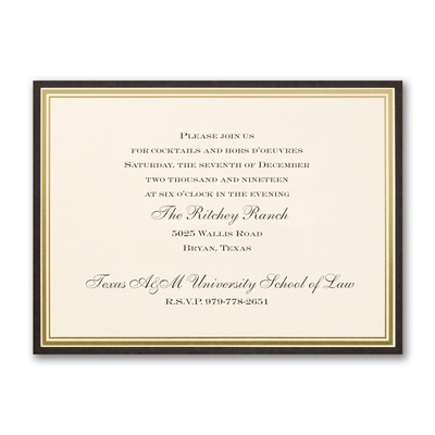 Classic Border Party Invitation - Horizontal