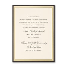 Classic Border Party Invitation - Vertical