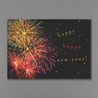 New Year's Fireworks - Holiday Card