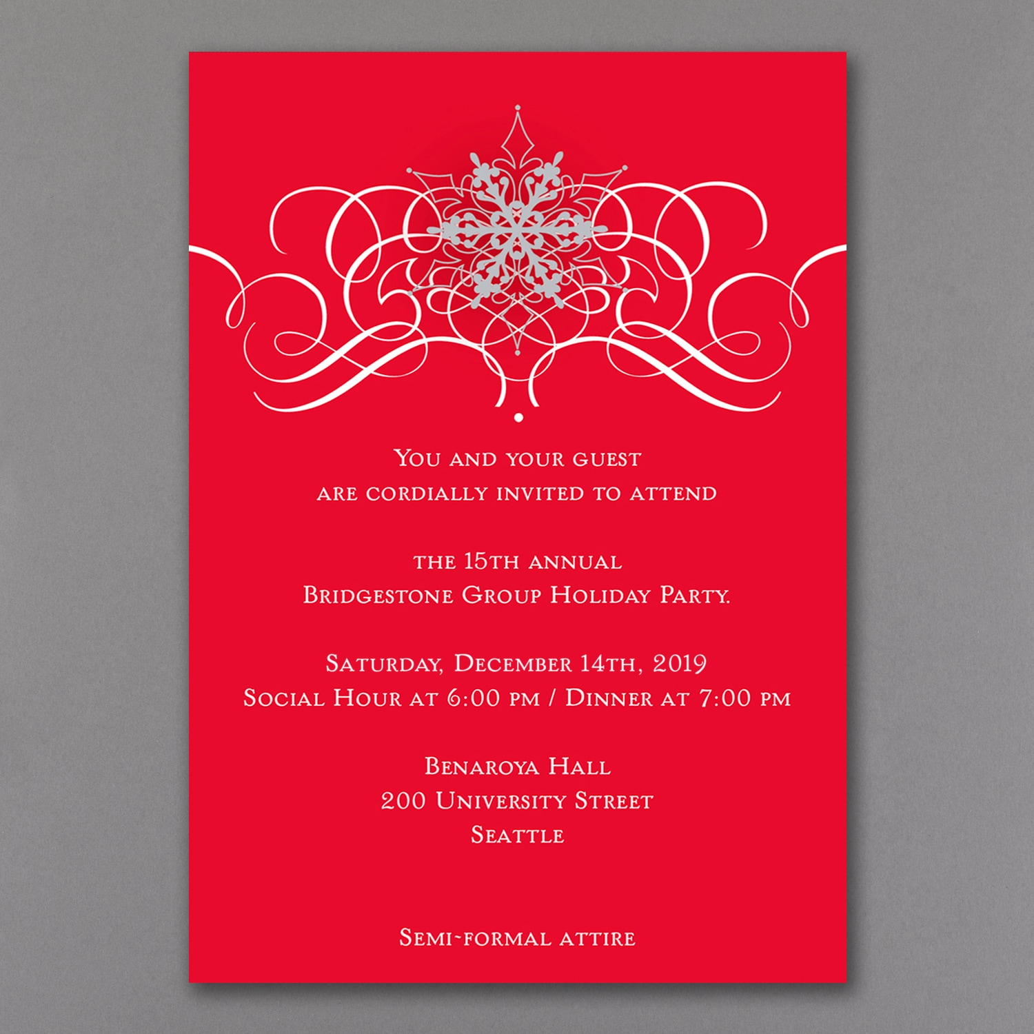 Holiday Snowflake > Holiday Party Invitations | Carlson Craft ...