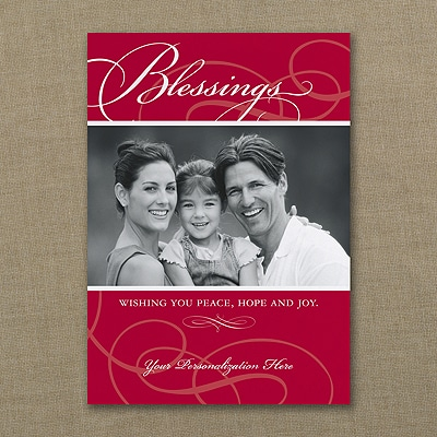 Blessings - Photo Holiday Card