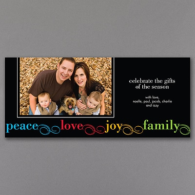 Colorful Wishes - Photo Holiday Card
