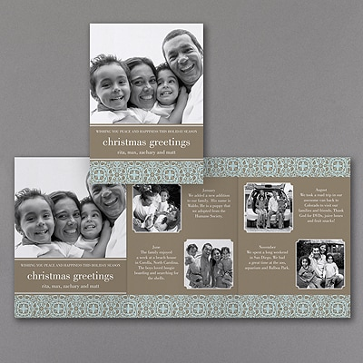 Tooled Border - Storyline Photo Holiday Card