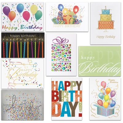 Birthday Assortment - 100 Cards
