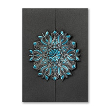 Snowflake Dazzle - Holiday Card