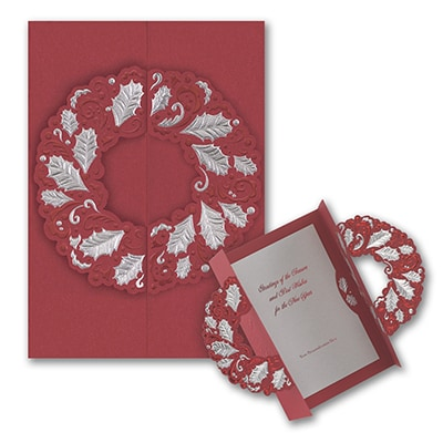 Red Wreath - Holiday Card
