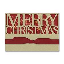 Merry Christmas Snowflakes - Christmas Card