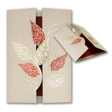 Ornate Leaves - Holiday Card