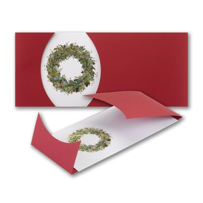 Wrapped Wreath - Holiday Card