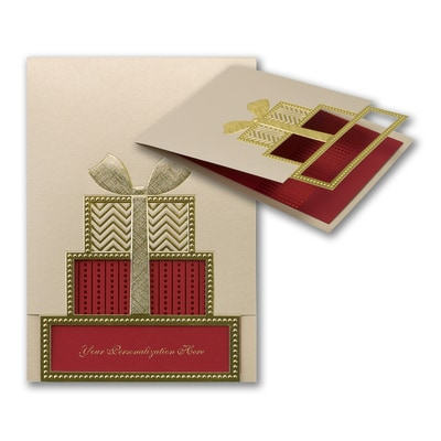 Patterned Package - Holiday Card