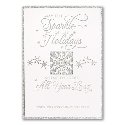 Holiday Twinkle - Silver Glitter