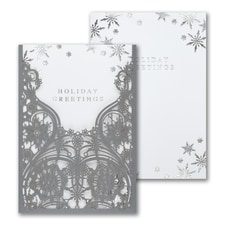 Shimmery Silver Snowflakes