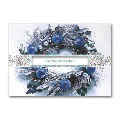 Icy Blue Wreath - Holiday Card