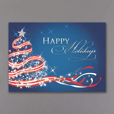 Patriotic Christmas - Holiday Card