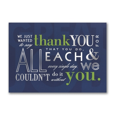 Every Single Day - Thank You Card